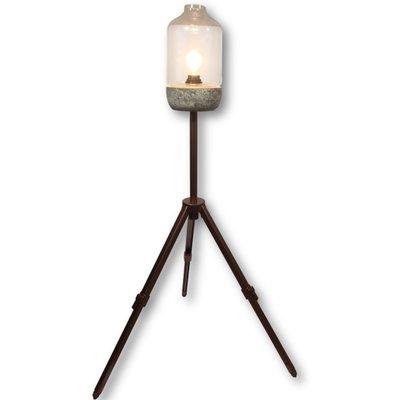 Geupcyclede koperen kleur statief lamp