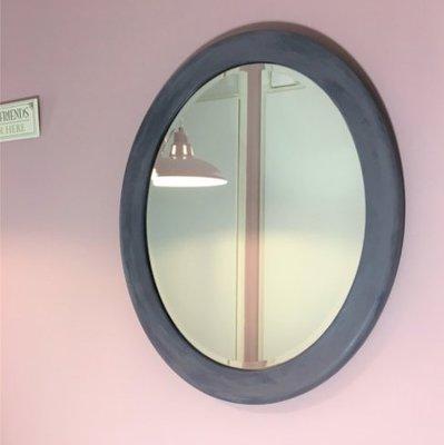 Spiegel Ovaal paars/blauw