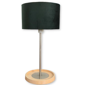 Gerestylede Basisk Ikea lamp Palermo green on taupe