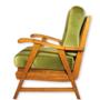 Vintage massief teakhouten Deense stijl fauteuil