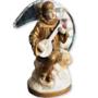 19e eeuwse antieke pierrot gipsen beeld