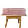 Aluminium Make-up koffer tafel rosé goud
