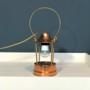 Koper muziekdoos lamp
