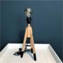 Tafellamp op houten statief